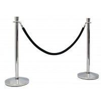 Stainless Steel Pole & Rope Barrier