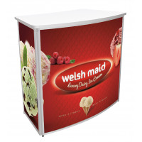 Promo Counters - Convex With white laminate top