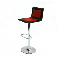 Red & Black Leather Bar Stools