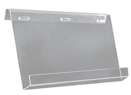 Clear/Silver Acrylic Brochure Holders With side-mounting arm