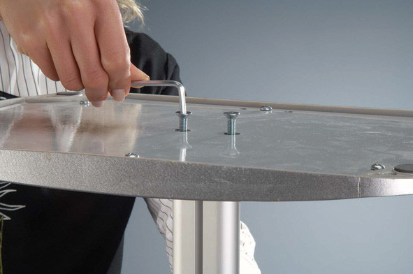 Clear/silver Decorative Brochure Stand